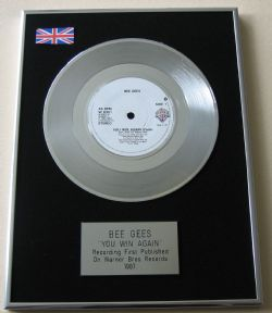 BEE GEES - YOU WIN AGAIN PLATINUM Single Presentation DISC